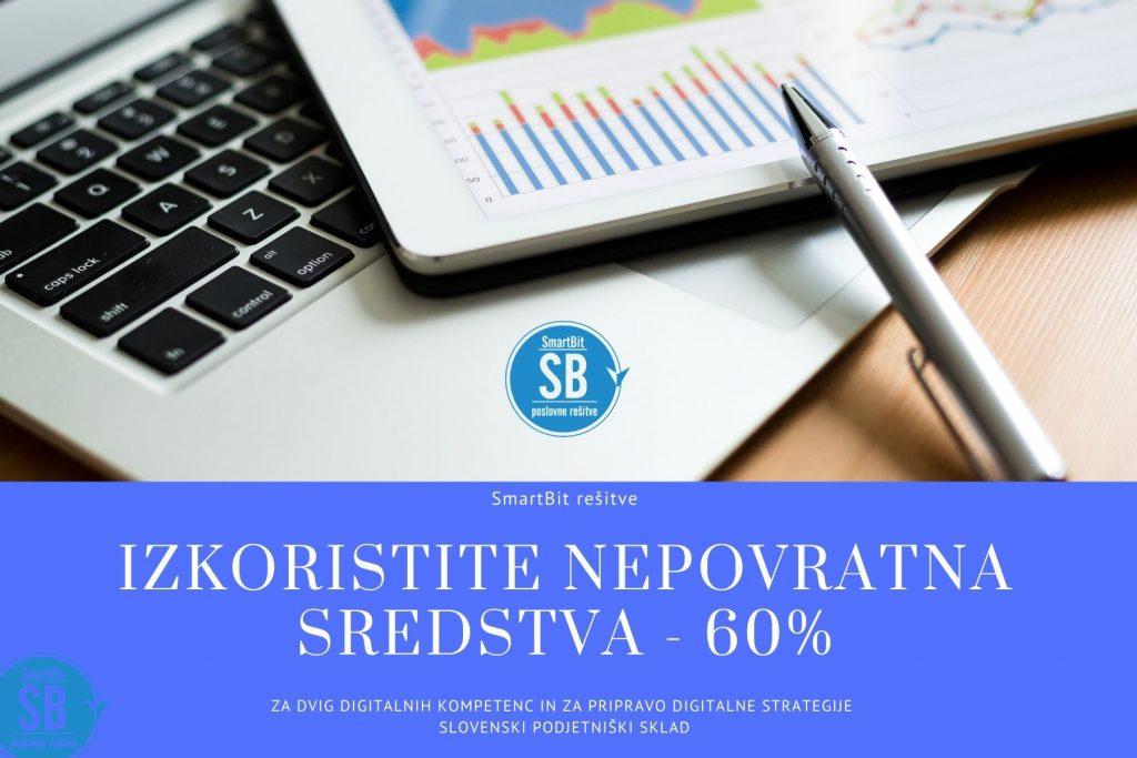 Izkoristite nepovratna sredstva za dvig digitalnih kompetenc in za pripravo digitalne strategije - Slovenski podjetniški sklad.